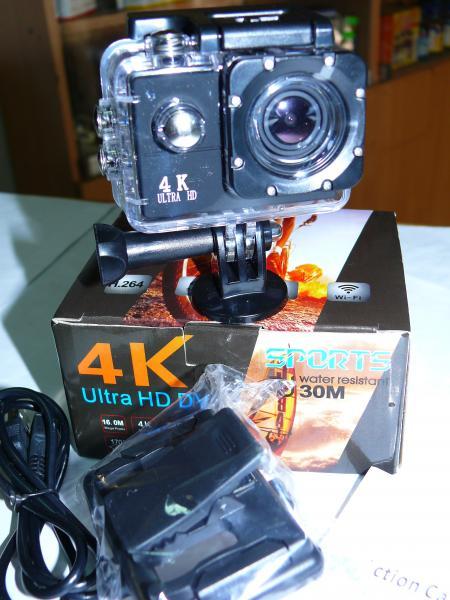 Экшен камера SL609 4K, WiFi. Эконом (минимум крепежей).