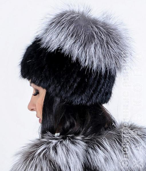 Меховая шапка из натуральной НОРВЕЖСКОЙ чернобурки