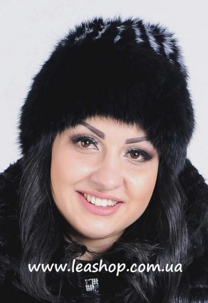 """Женская меховая шапка """"Кубанка""""из натурального меха"""