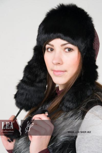 Женская шапка-ушанка(натуральный кролик первый сорт)