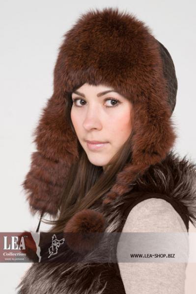 Меховая женская шапка(натуральный кроль первый сорт)