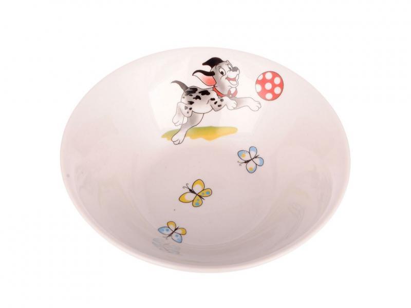 Набор керамический (чашка 220мл, миска 250мл) Озорные щенки