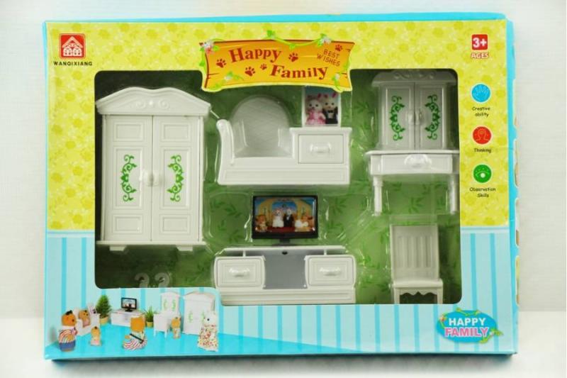 "Мебель ""HAPPY FAMALY"" с животными в коробке"