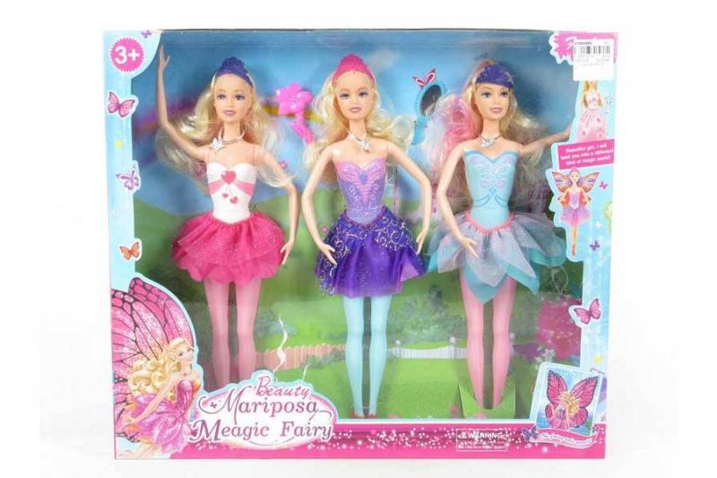 "Кукла ""Барби"" 3 шт. в коробке"