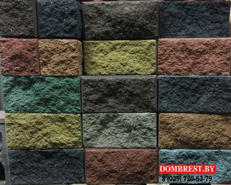 Блок цементно-песчаный декоративный, демлер в Бресте