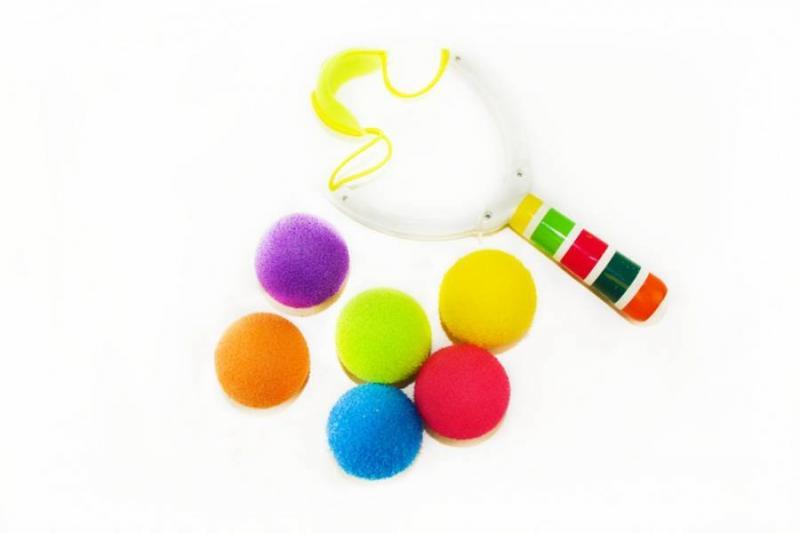 Рогатка с паролоновыми шариками в пакете