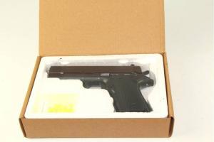 Фото Игрушки для мальчиков, Детское оружие Пистолет с пулями в коробке металл.