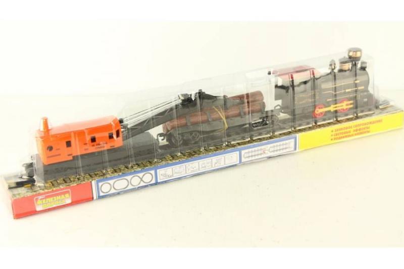 Поезд - паровоз под слюдой