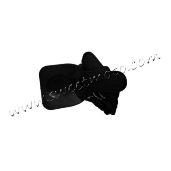 Ремень косы с пластиной (черный)