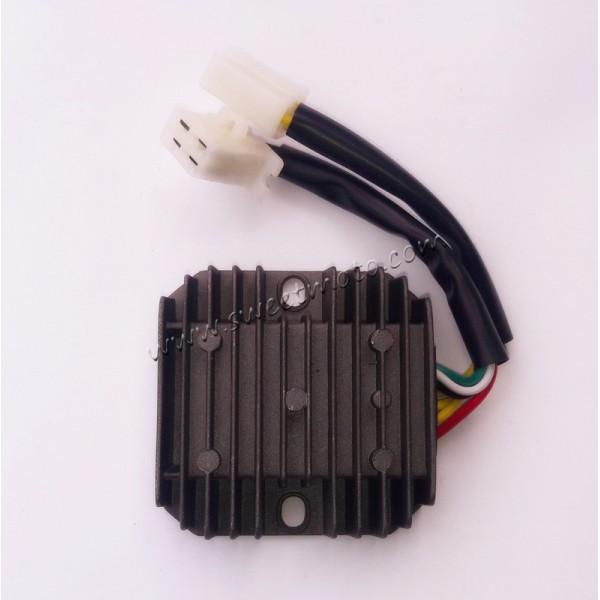 Реле тока (реле-регулятор) на 7 проводов (4+3) скутер 4Т 150сс