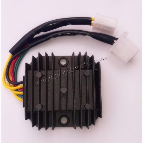 Реле тока (реле-регулятор) на 6 проводов (3+3) скутер 4Т 150сс