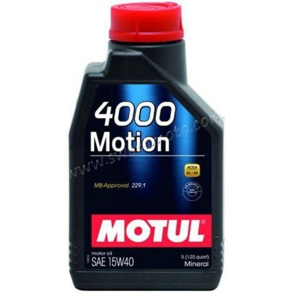 MOTUL 4000 Motion 15W-40, 1л.