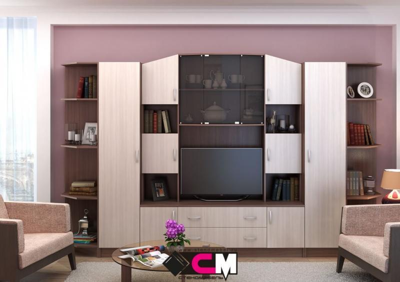 Фото Стенки и мебель для гостиной  Модульная гостиная Макарена ЛДСП (Стендмебель)