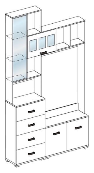 Фото Стенки и мебель для гостиной  Гостиная Яна ЛДСП комплектация 1 (Стендмебель)