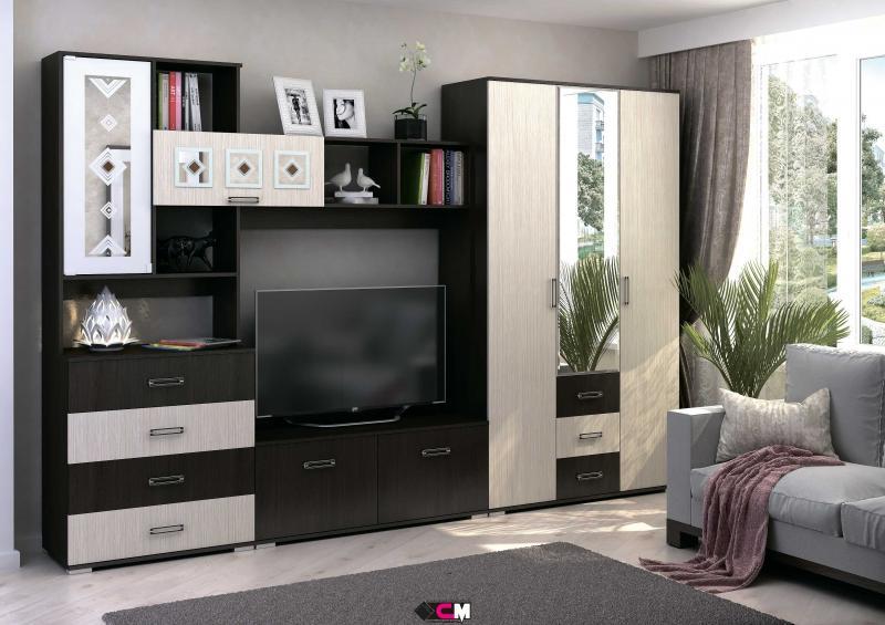 Фото Стенки и мебель для гостиной  Гостиная Яна ЛДСП комплектация 2 (Стендмебель)