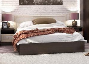 Кровать Барселона 1,4м венге/белфорт (Стендмебель)