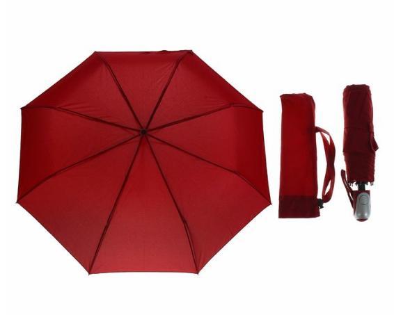 Зонт автоматический, R=50см, цвет красный
