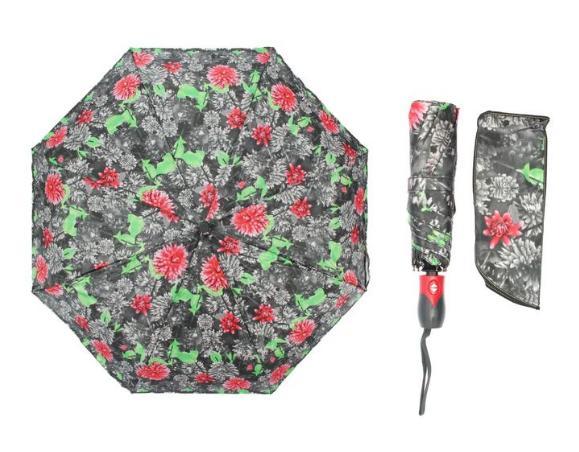 Зонт автоматический, R=55см, разноцветный