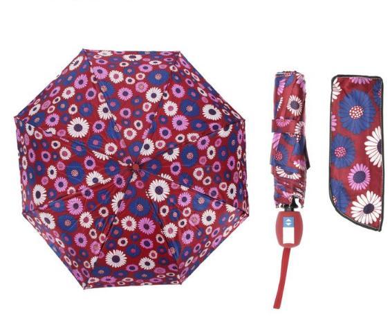 Зонт автоматический, R=55см, цвет бордовый