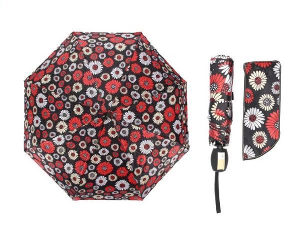 Зонт автоматический, R=55см, цвет чёрный