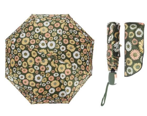 Зонт автоматический, R=55см, цвет зелёный