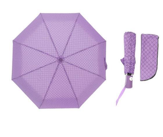 Зонт автоматический, R=55см, цвет фиолетовый