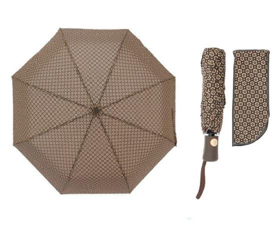 Зонт автоматический, R=55см, цвет коричневый