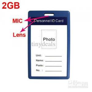 Фото Шпионская мини видеокамера Бейджик со встроенной видеокамерой 2GB