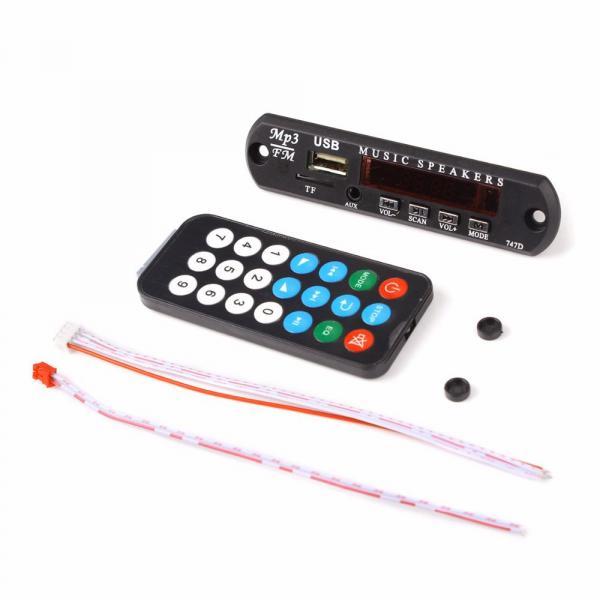 MP3 плеер FM радио MP-3 WMA USB TF AUX 12V