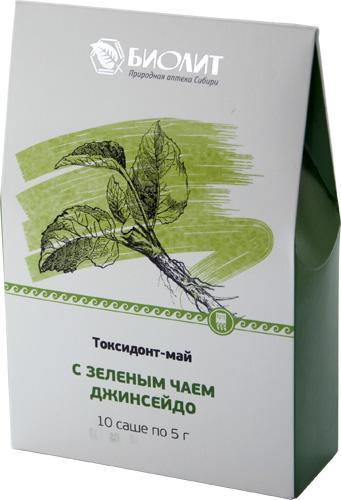 Токсидонт -май с зелёным чаем (10 саше по 5 г)