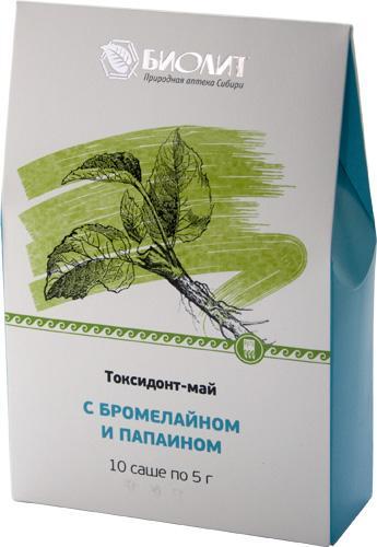 Токсидонт -май с бромелайном и  папаином (10 шт. саше)