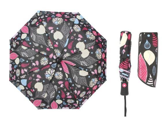 Зонт полуавтомат, R=55см, цвет чёрный