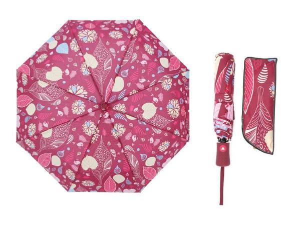 Зонт полуавтомат, R=55см, цвет бордовый