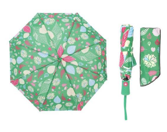 Зонт полуавтомат, R=55см, цвет зелёный