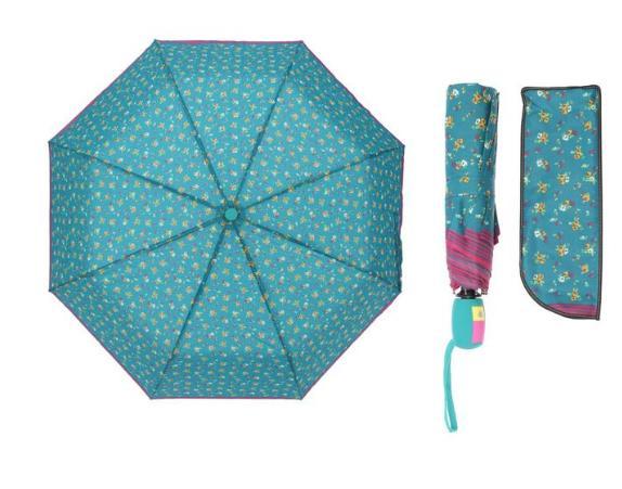 Зонт полуавтомат, R=55см, цвет голубой