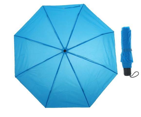 Зонт механический, R=48см, цвет синий