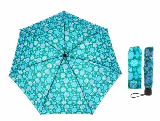 Зонт механический, R=55см, цвет бирюзовый