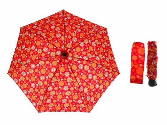 Зонт механический, R=55см, цвет бордовый
