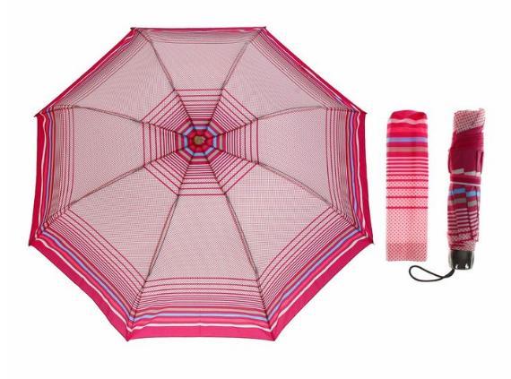 Зонт механический, R=53см, цвет розовый