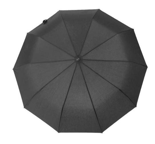 Зонт полуавтомат, R=49см, цвет чёрный