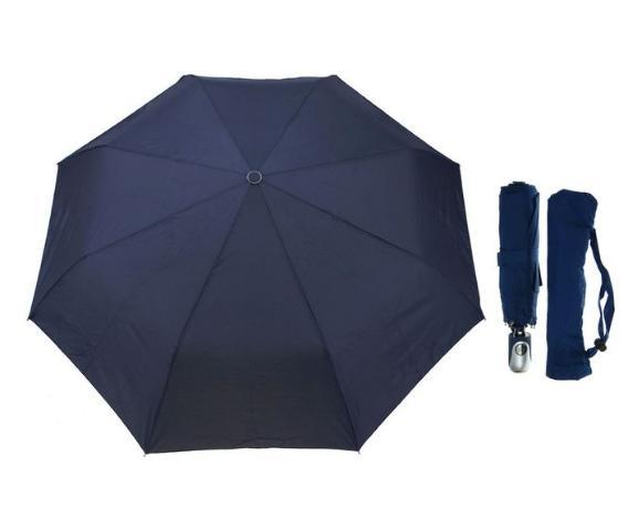 Зонт автоматический, R=50см, цвет тёмно-синий