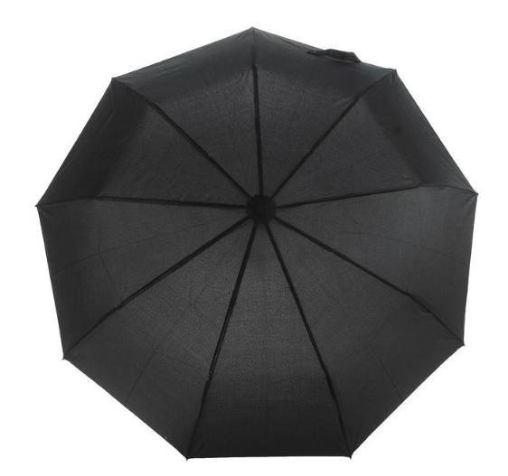 Зонт полуавтомат, 2677, R=50см, цвет чёрный