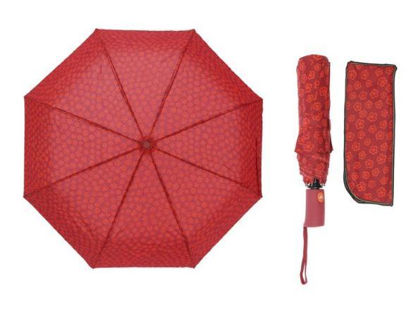 Зонт полуавтомат, R=55см, цвет красный