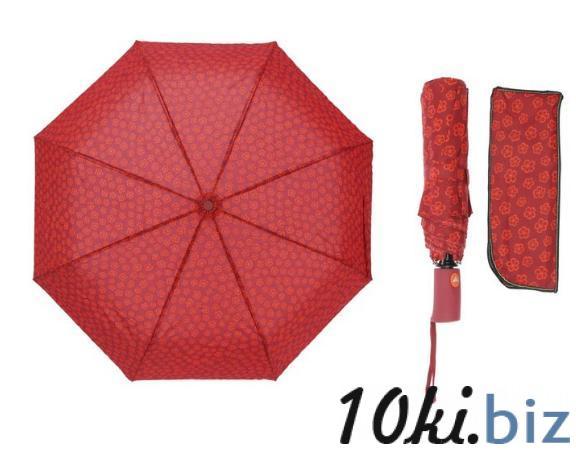 Зонт полуавтомат, R=55см, цвет красный купить в Беларуси - Женские зонты