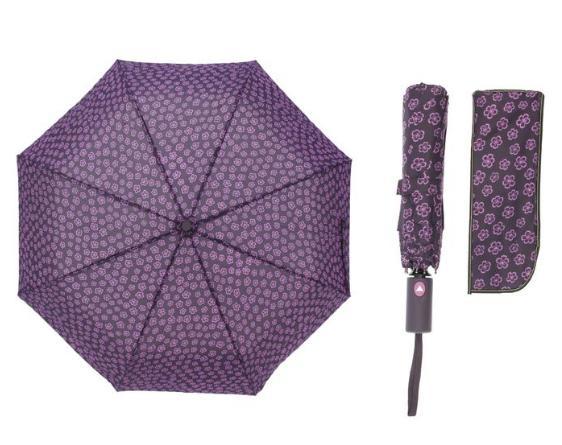 Зонт полуавтомат, R=55см, цвет фиолетовый