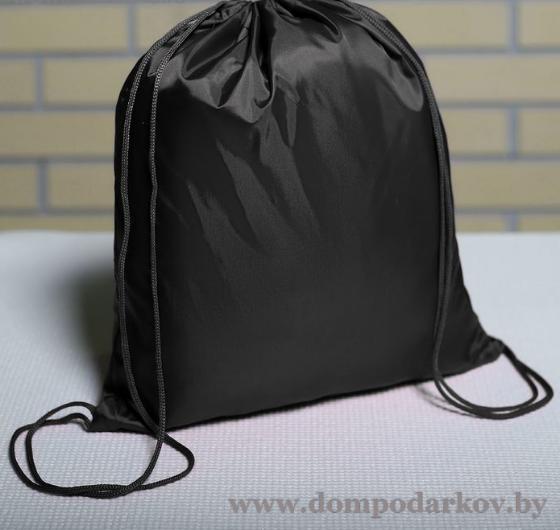 Фото ПОСМОТРЕТЬ ВЕСЬ КАТАЛОГ, Галантерея, Рюкзаки , Рюкзаки детские  Мешок для обуви на шнурке, 1 отдел, цвет чёрный