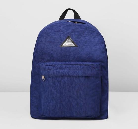 Рюкзак молод м-23/4ж-2, 31*16*38, отд на молнии, н/карман, синий