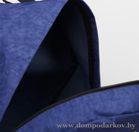 Фото ПОСМОТРЕТЬ ВЕСЬ КАТАЛОГ, Галантерея, Рюкзаки , Рюкзаки молодежные Рюкзак молод м-23/4ж-2, 31*16*38, отд на молнии, н/карман, синий