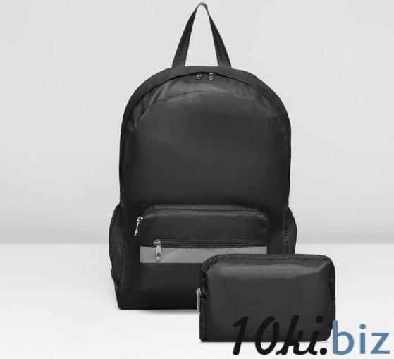Рюкзак-трансформер на молнии, наружный карман, цвет чёрный купить в Беларуси - Рюкзаки городские и спортивные