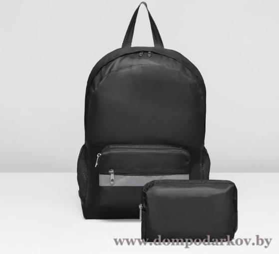 Фото ПОСМОТРЕТЬ ВЕСЬ КАТАЛОГ, Галантерея, Рюкзаки , Рюкзаки молодежные Рюкзак-трансформер на молнии, наружный карман, цвет чёрный